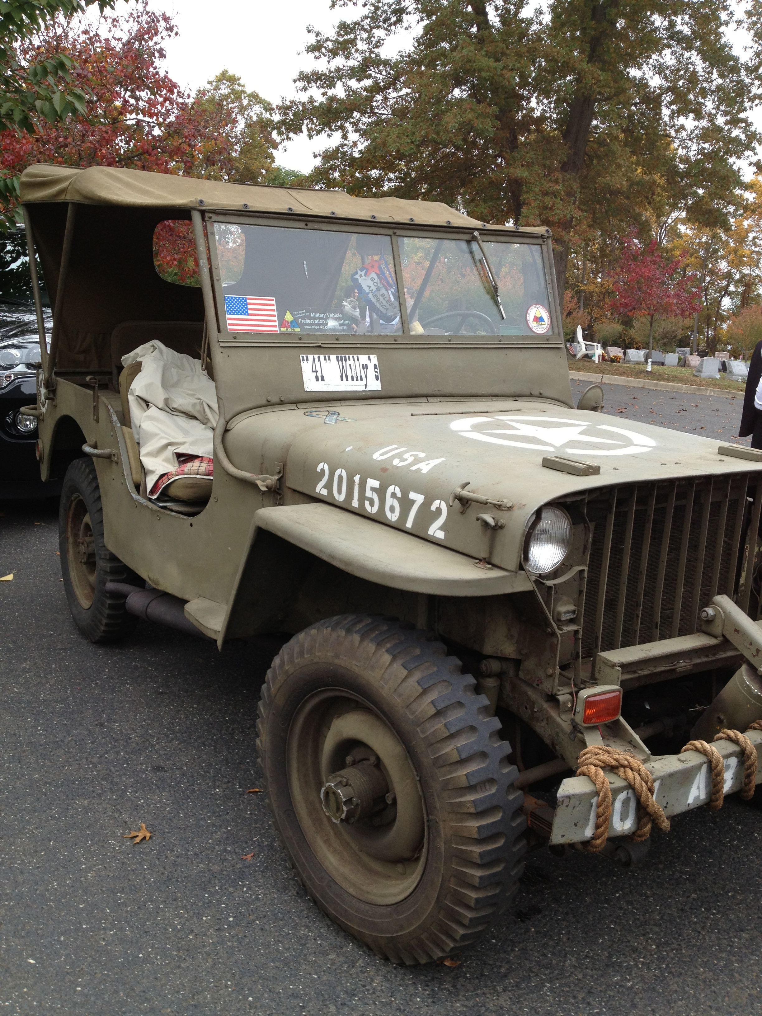 Bernard Balchus Was The Proud Owner Of This 1941 Willys Mb Us Army