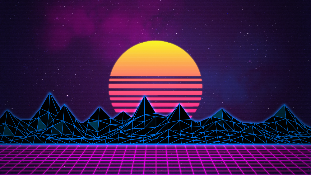 Retrowave Neon 80 S Background 4k By Rafael De Jongh On Deviantart Vaporwave Wallpaper 80s Background Waves Wallpaper