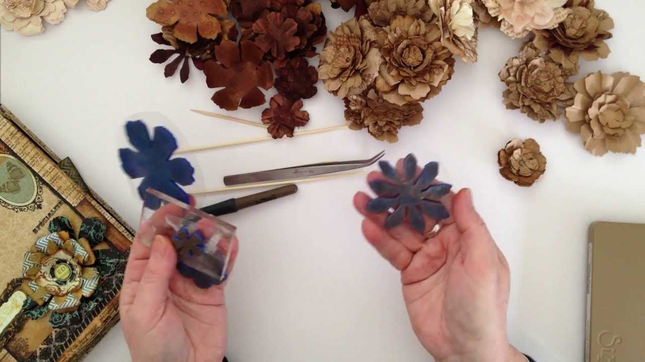 How I make my super simple Paper Flowers  Paper Crafts  Flowers