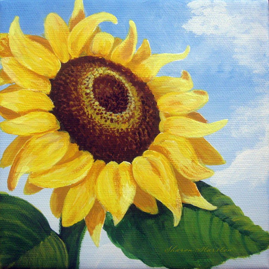 Large Sunflower Paintings for Sale | Sunny Paintings ...
