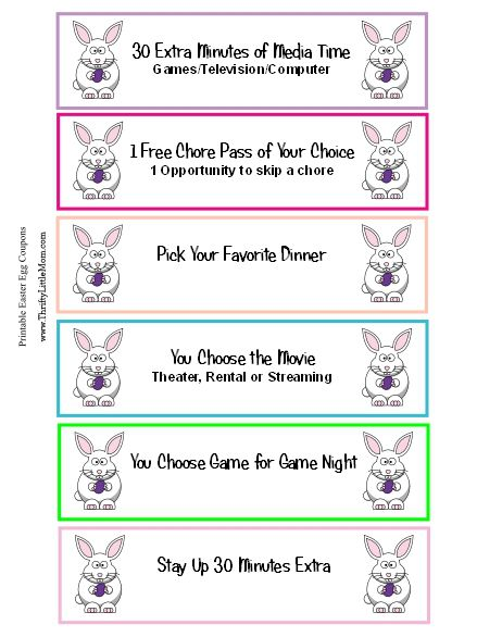 Free Lunch Coupon Template Unique Motivated Mondays W Thrifty Little Mom 3.30  Easter