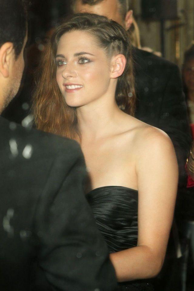 Kristen Stewart at the Zuhair Murad Couture Show in Paris.