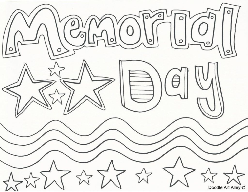 Memorial Day Coloring Pages Sketch Worksheets