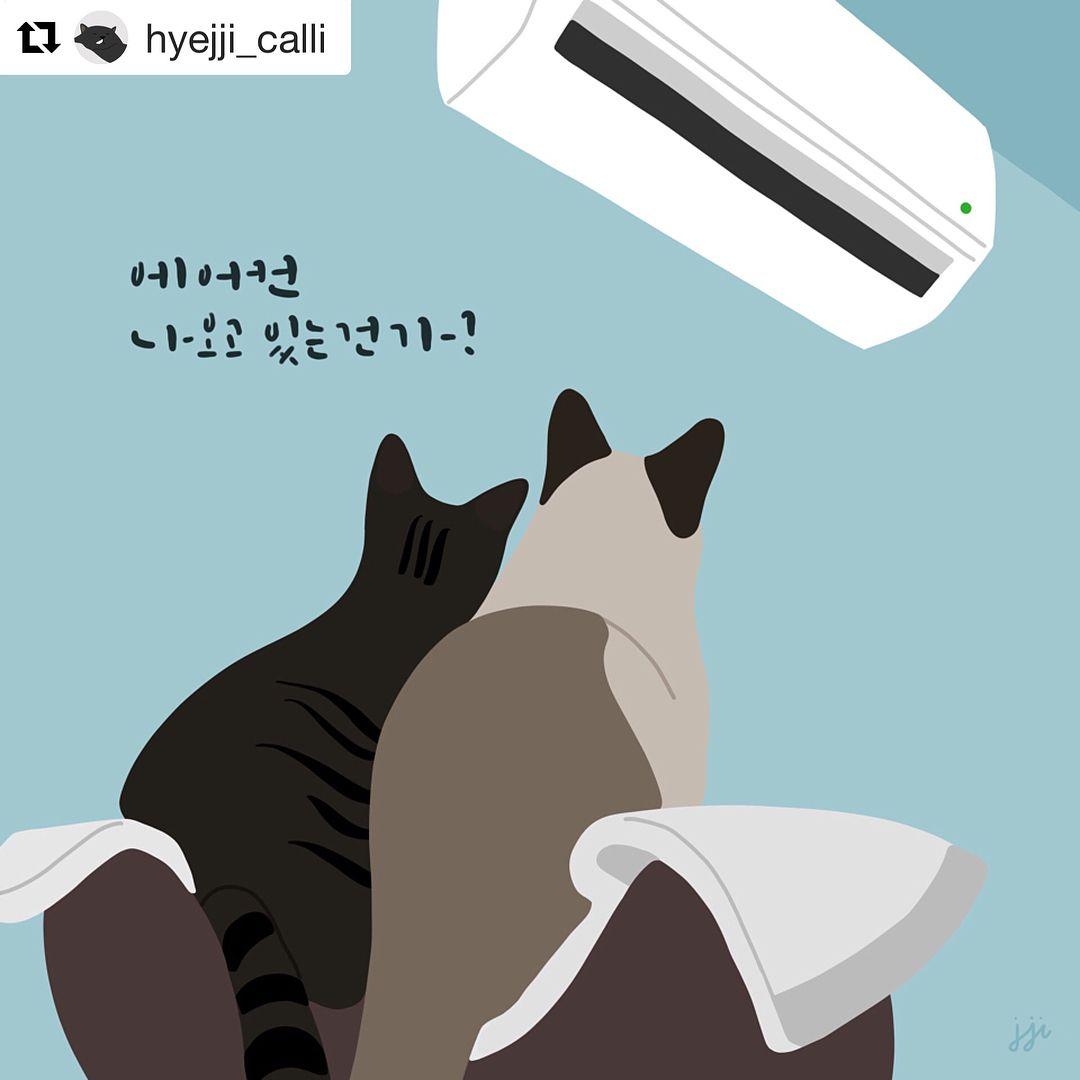 크리스마스 아이디어에 있는 Joo Myung Lee님의 핀 고양이 그림 캐릭터 일러스트 고양이