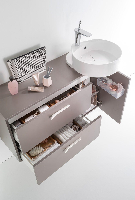 Meuble Salle De Bain Largeur 100 delphy ilot : le #meuble bas largeur 100 cm qui vous offre