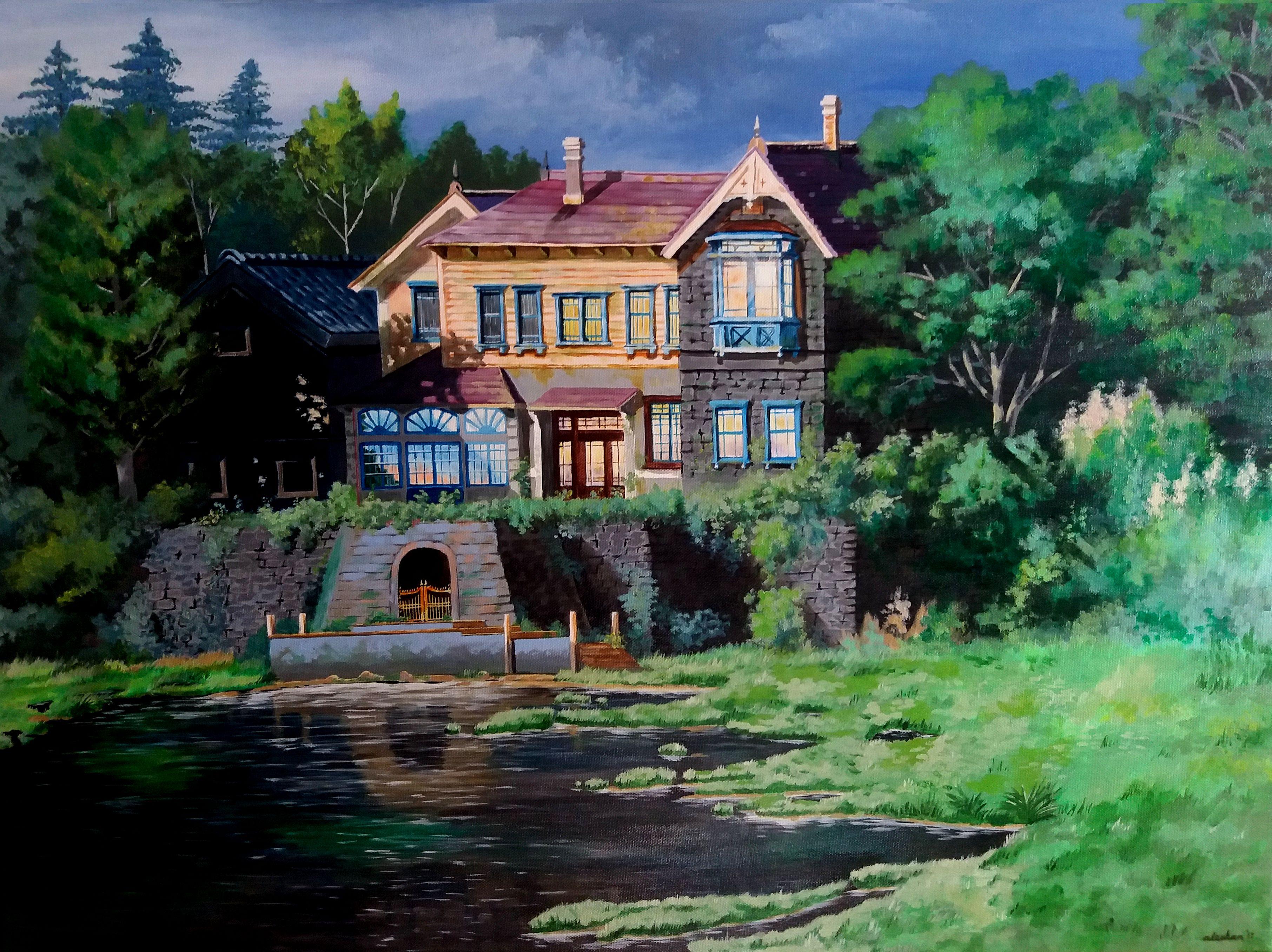 When Marnie Was There Omoide No Mani Mansion Acrylic Painting Studio Ghibli Studio Ghibli Painting Studio When Marnie Was There