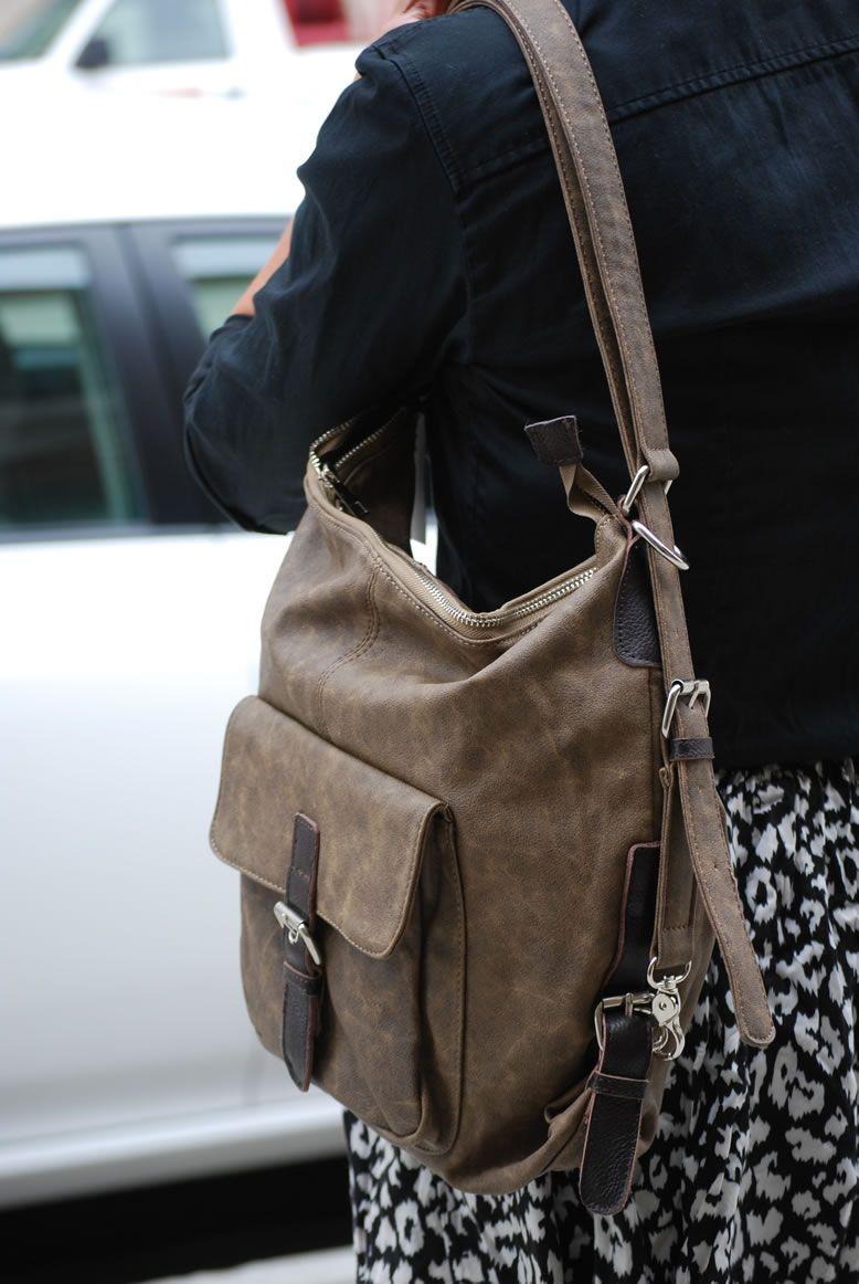 Convertible backpack to hobo handbag style bags | Bags | Pinterest ...
