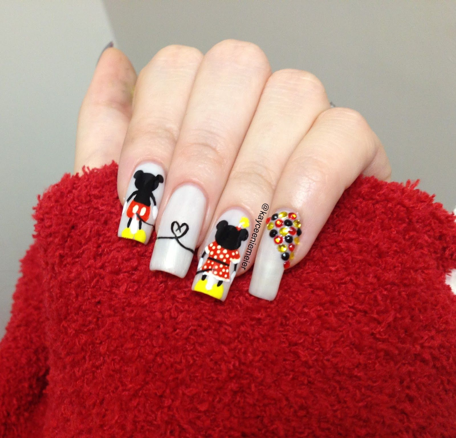 Mini Nail Blog: Mickey Mouse Nail Art Video (o^∇^o)ノ get out of ...