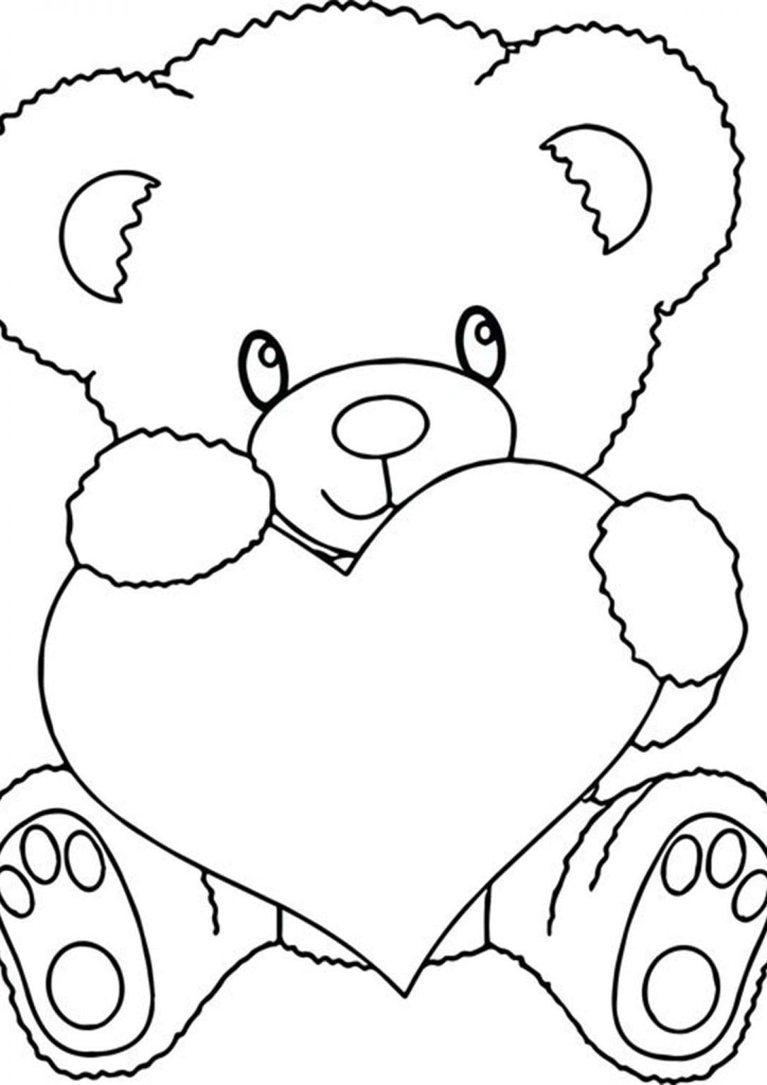 Free Easy To Print Bear Coloring Pages Teddy Bear Coloring Pages Bear Coloring Pages Heart Coloring Pages