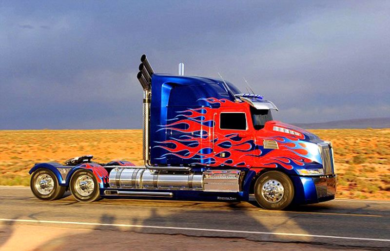 I want a Western Star 4900 and customised as Optimus Prime ...
