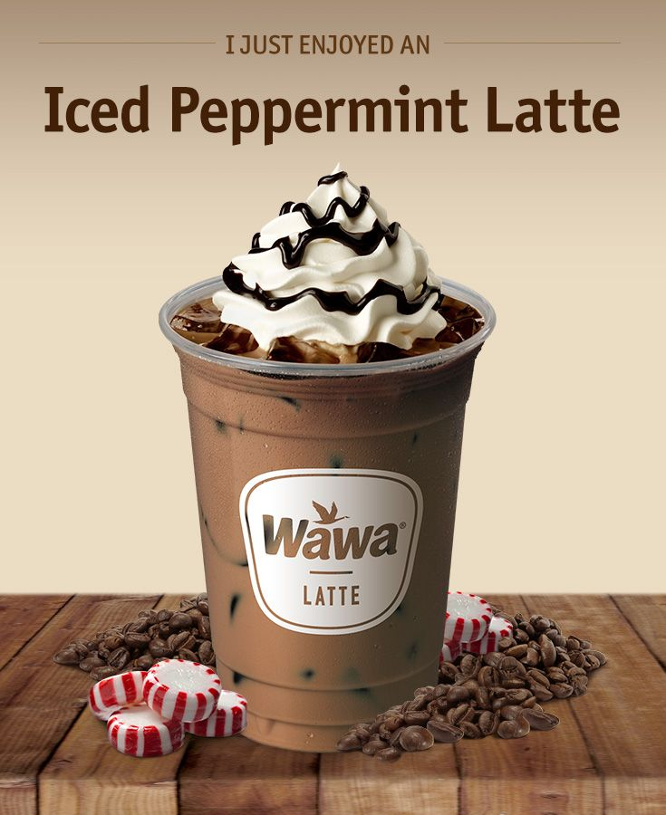 Wawa Hot & Iced Beverages: Iced Peppermint Latte