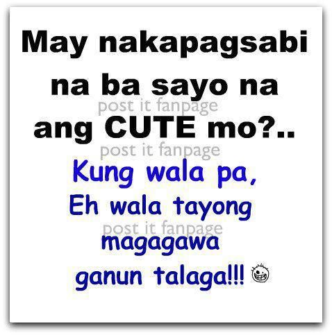 Funny Tagalog Quotes Image Credit To Post It Fanpage On Facebook