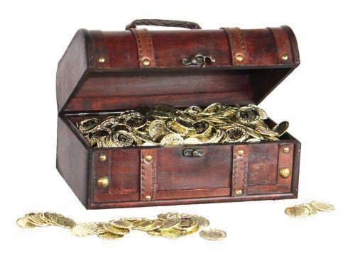 Pirate Treasure Chest with 144 Coins by Decorative Gifts, http://www.amazon.com/dp/B0054LI43U/ref=cm_sw_r_pi_dp_.72Fsb1EGQP3K