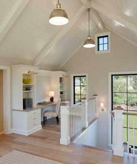 Buhardilla y techos altos techos pinterest techos - Techos de madera blanco ...