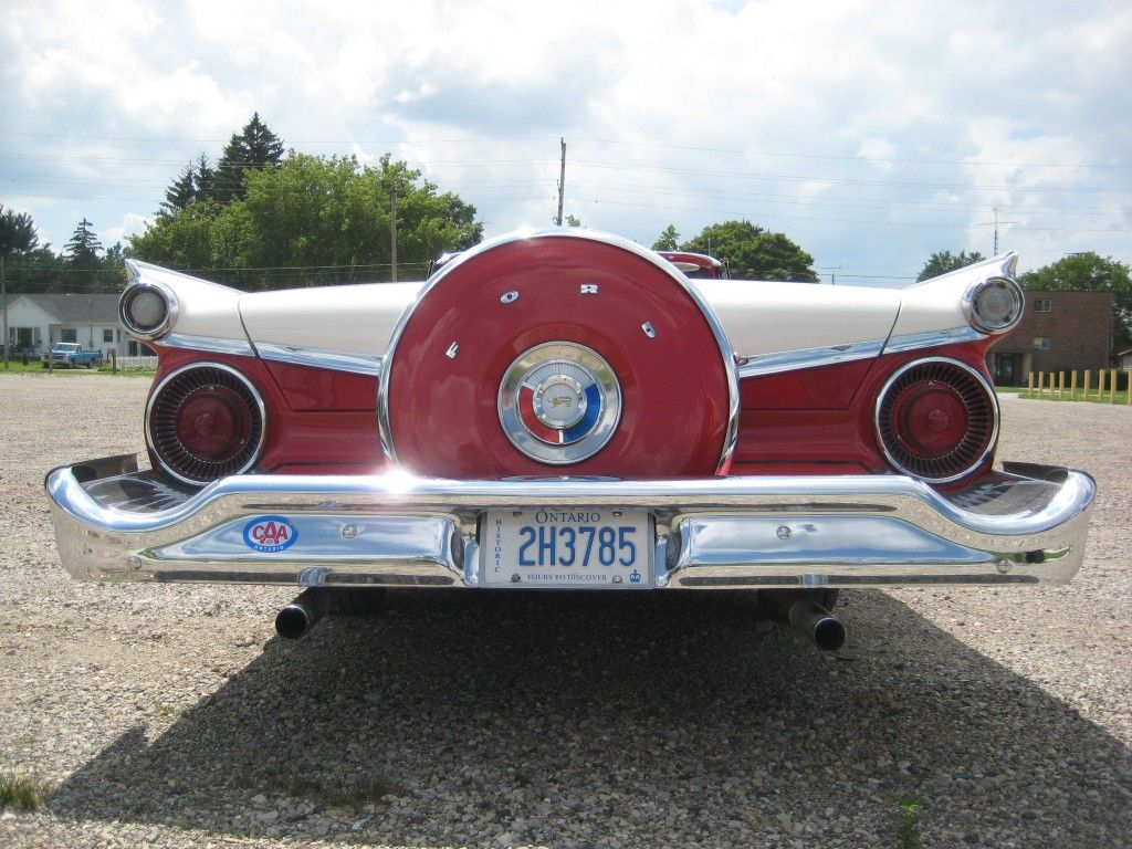 Dramatic left-rear 3/4 view of \'59 Galaxie Sunliner Convertible to ...