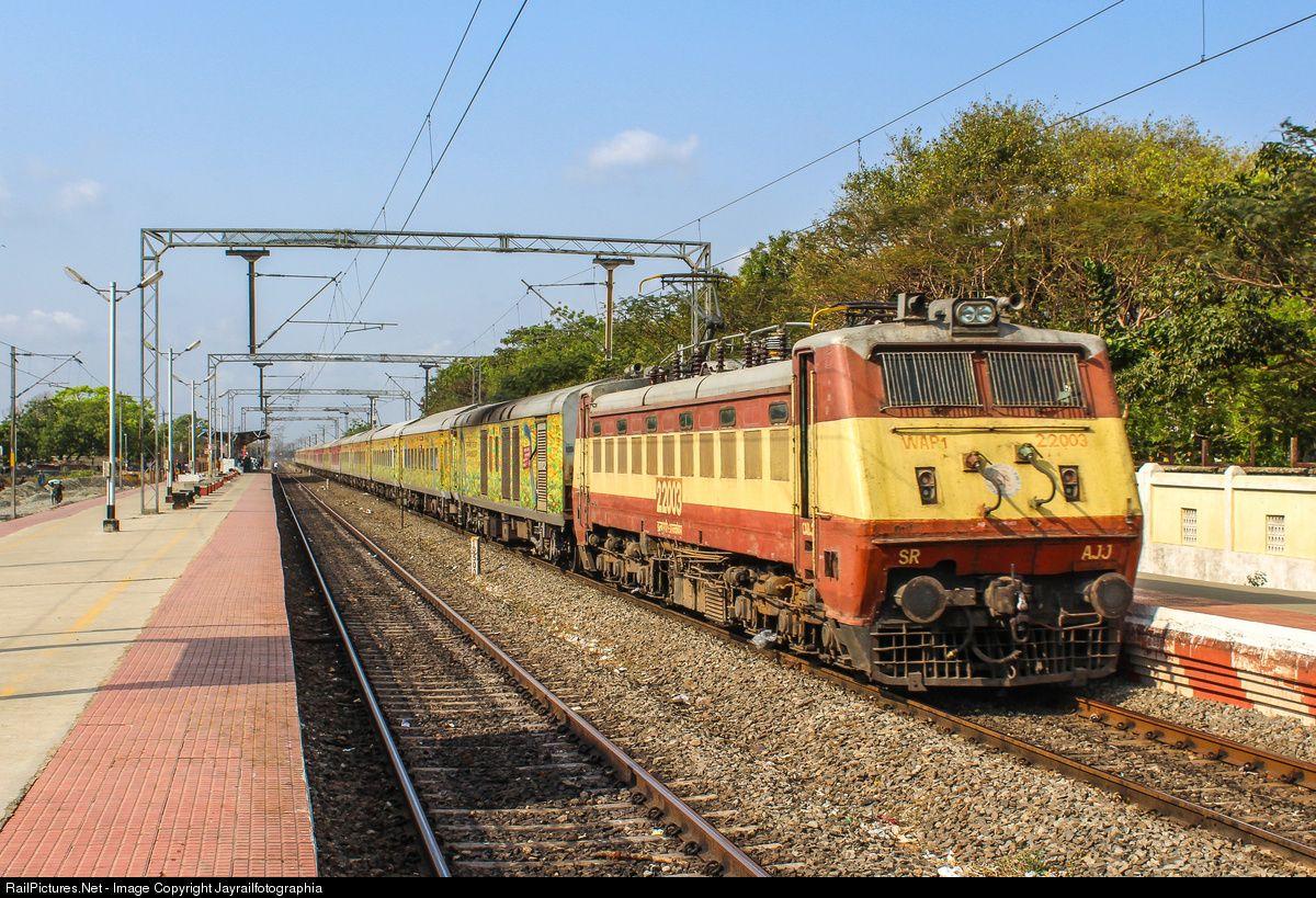 22003 Indian Railways Wap 1 At Chennai India By Jayrailfotographia Indian Railways Indian Railway Train Railway