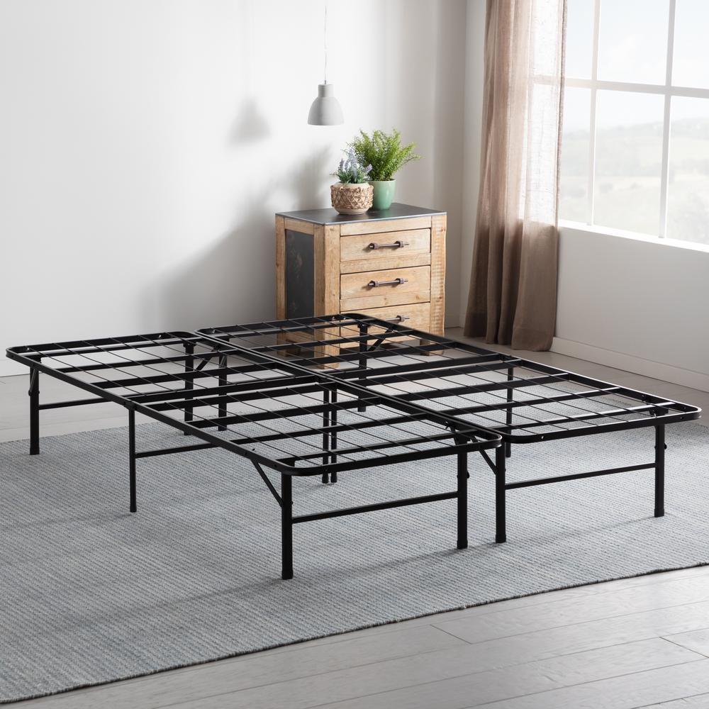 Brookside 14 In Cal King Folding Platform Bed Frame Black