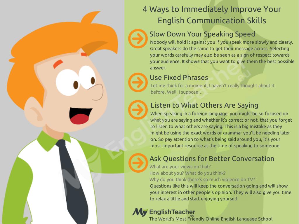 6 Ways To Immediately Improve Your English Communication