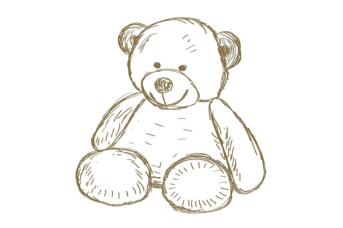 Hand Drawn Teddy Bear Teddy Bear Drawing Bear Drawing Teddy Bear Tattoos