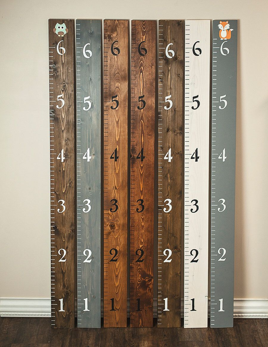 Personalized Growth Chart Wood Growth Chart Wall Ruler Growth