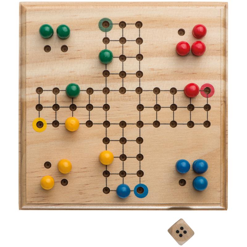 Klasyczna Gra Chinczyk Drewniana Triangle Games Peg