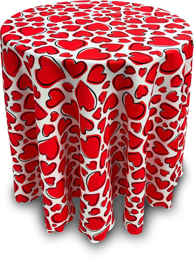 Valentine Hearts Tablecloth U2014 Wouldnu0027t Our New Valentine Hearts Tablecloth  Look Fabulous On Your