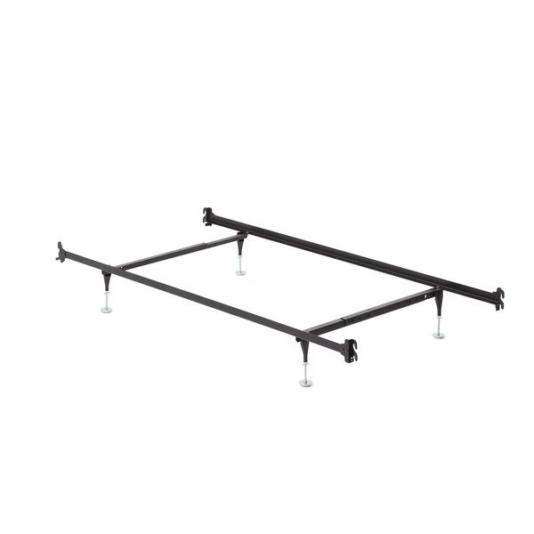 Twin Full Hook On Angle Iron Steel Bed Frame With Headboard And