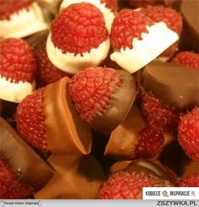 Chocolate dipped raspberries