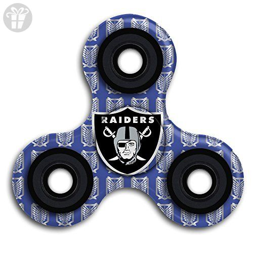 NFL Oakland Raiders Team Logo Hot Sale Hands Spinner Tri-Spinner Fidgets  Fingertip Bearing Toy