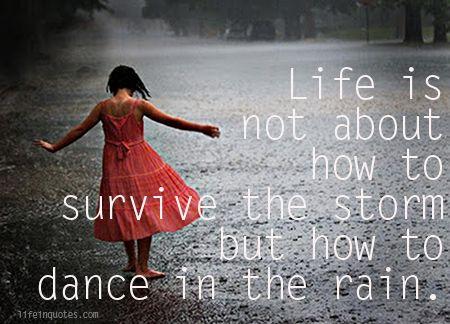 Survive The Rain Quotes Quotesgram Inspirational Quotes Rain