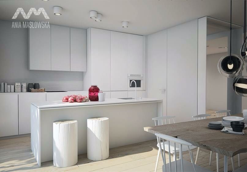 Cucina bianca moderna | TOTAL WHITE HOUSE | Pinterest | Exterior ...