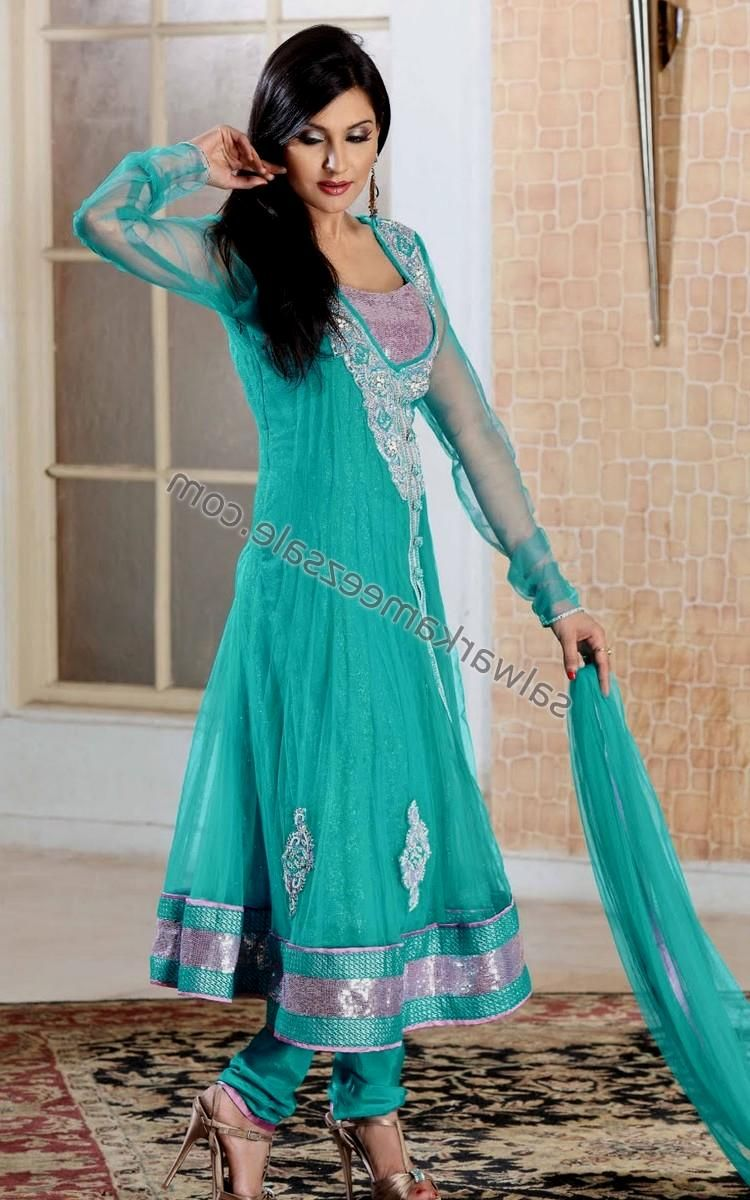 North Indian Dress Casual | Anarkali Salwar Suits With Intricate ...