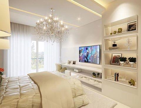 Deliiicia de quarto pra curtir o Domingão!!  Autoria do Projeto: Inovar Arquitetura Snap: Decoremais ❤️ @carolcantelli_interiores