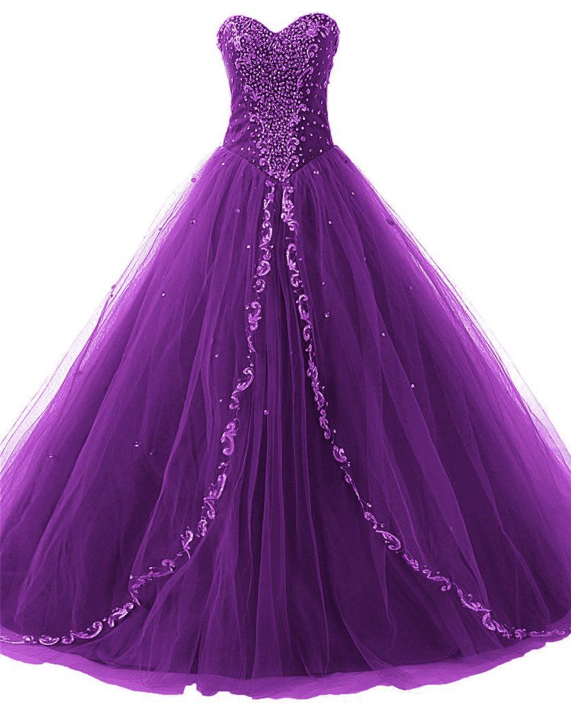 JAEDEN Wedding Sweetheart Long Quinceanera Dresses Formal Prom ...