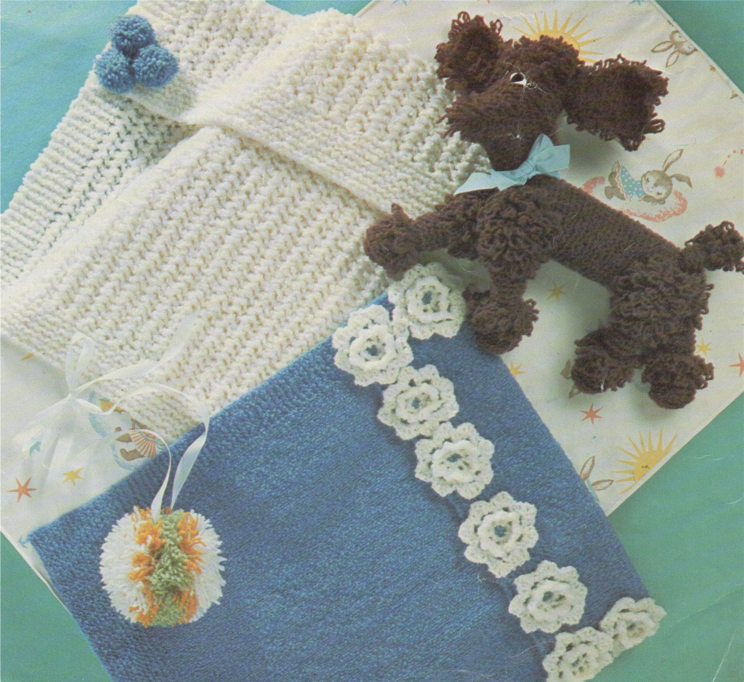 Baby Pram Cover and Loopy Poodle Dog Toy Knitting Pattern : Crochet ...