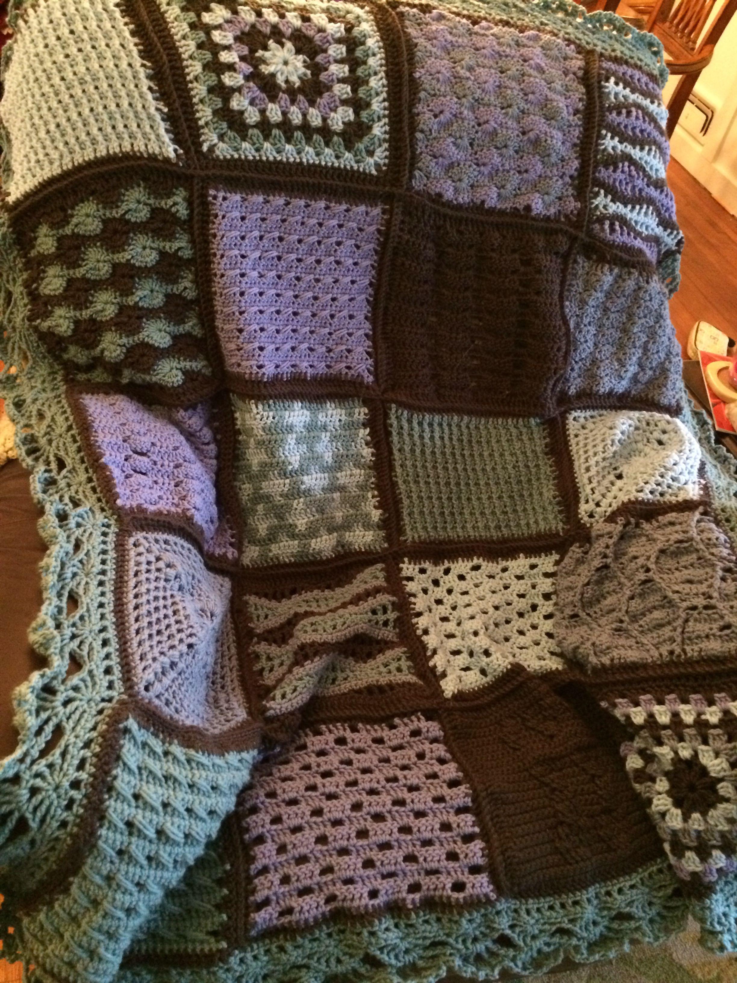 Crochet sampler afghan | Crochet Sampler Blankets | Pinterest ...
