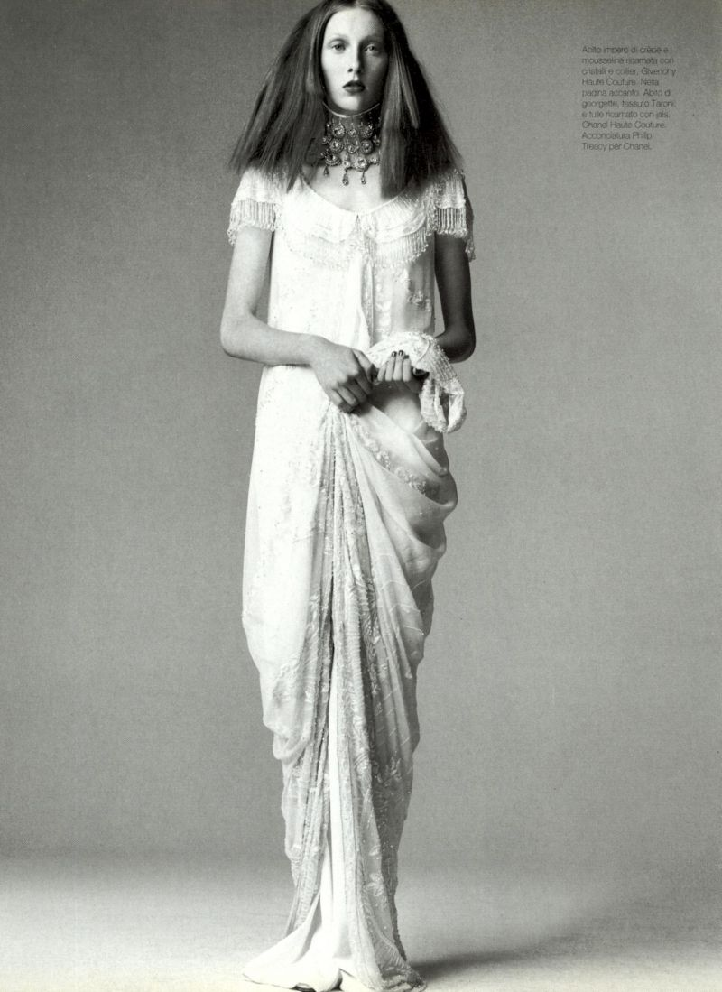 Vogue Italy Editorial Supplement September 1997 - Maggie Rizer by Steven Meisel