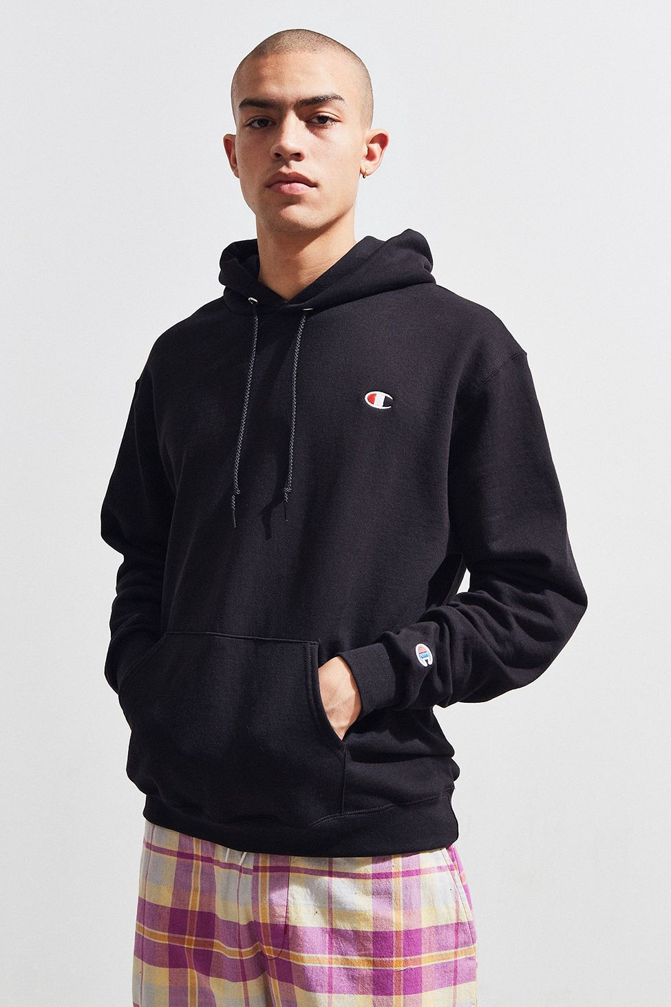 Urban Outfitters Champion Stacked Eco Hoodie Sweatshirt White Xl Sweatshirts Hoodie Hoodies Sweatshirts [ 1463 x 975 Pixel ]