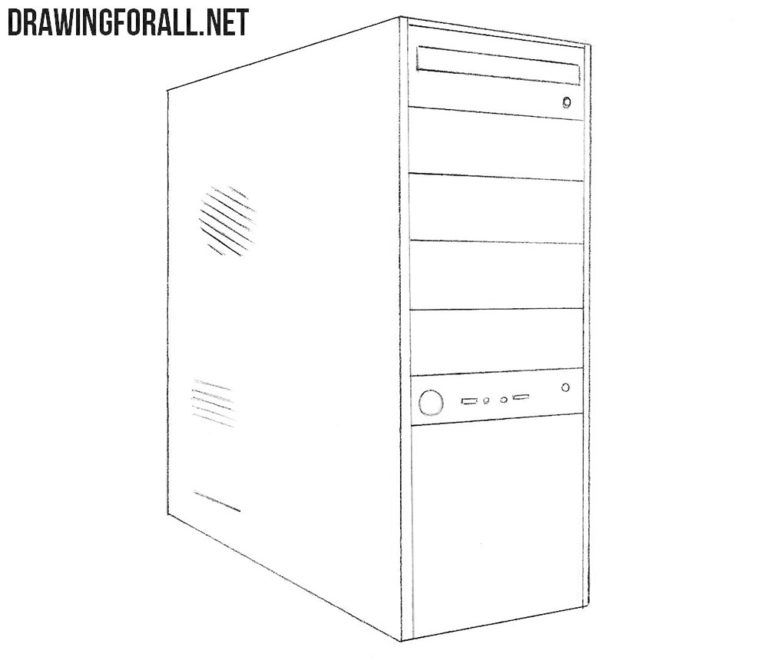 How To Draw A System Unit Drawingforall Net Computer Drawing Keyboard Lessons Very Easy Drawing