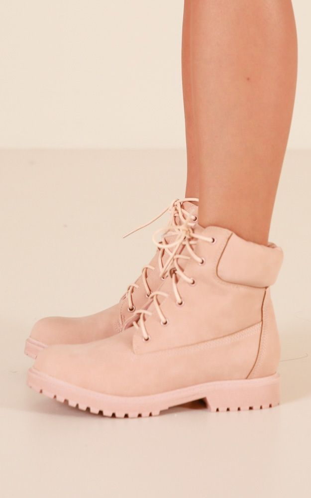 Verali - Stomper Boots In Dusty Pink | Showpo