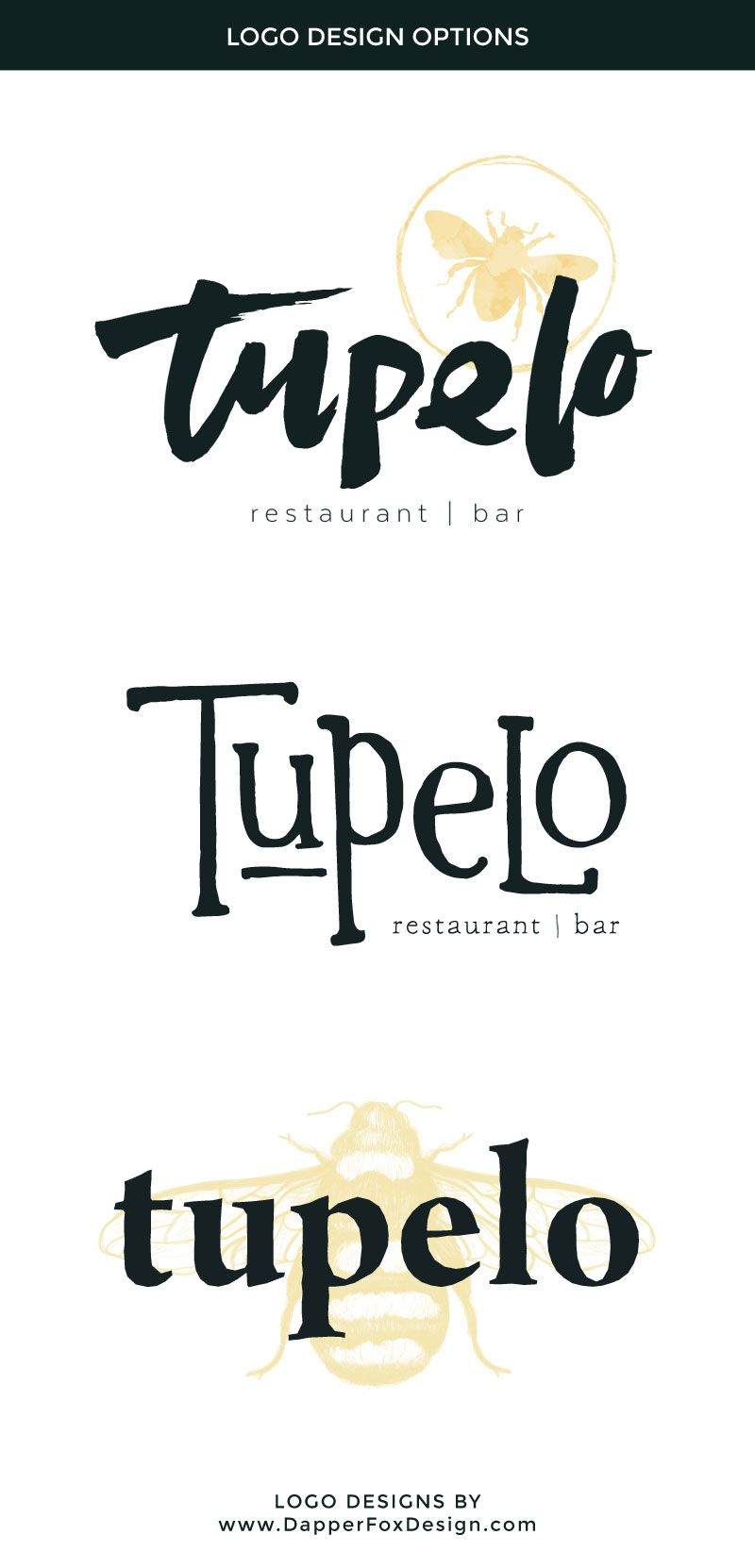 Modern And Rustic Restaurant Logo Designs For Tupelo Park City Design By Dapper Fox