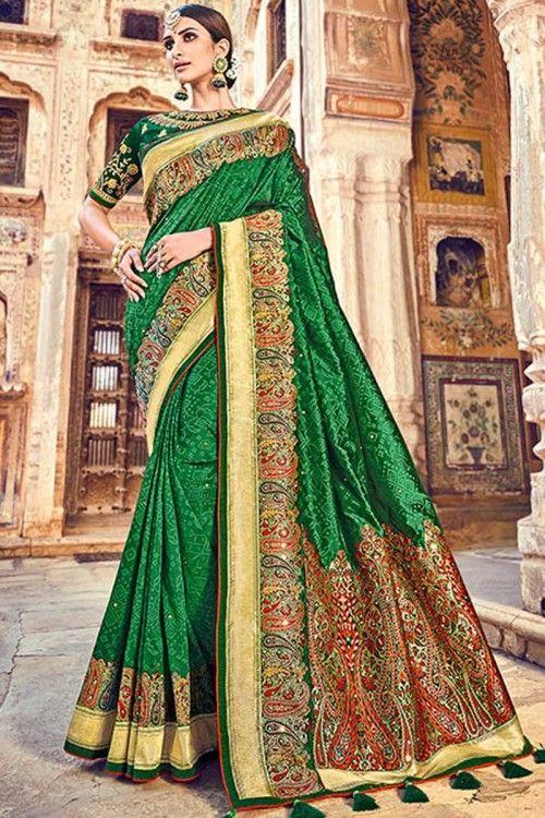 Details about  /Saree Sari Bollywood Pakistani Banarasi Silk With Weaving Zari Sari Blouse Party