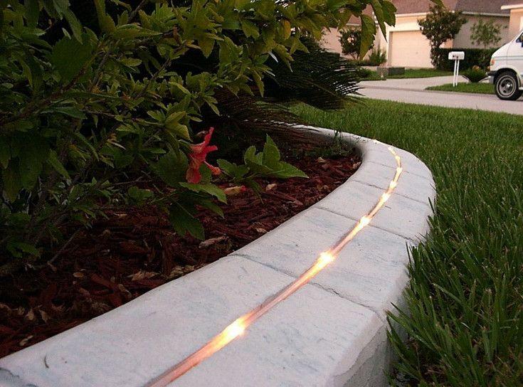 Diy poured concrete edging google search outdoors for Homemade garden edging ideas