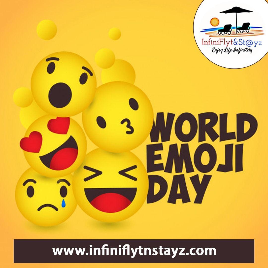 🎉 Happy World Emoji Day! 🎉 Although it may seem like these helpful symbols have been around forever ⌛ . . Comment down your Favourite Emoji! #emoji #emojicombos #emojiday #happyemojiday #post #emojis #weekendgetaway #explore #Vacations #CheapFlightBooking #Flightbookings #CheapFlights #infiniflytnstayz #lowairfare