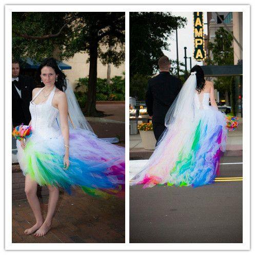 Find More Wedding Dresses Information About Colorful Beach Wedding Dresses 2015 Tulle With