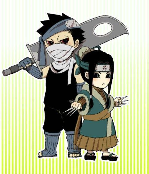 Zabuza & Haku chibis   Naruto fan art, Anime