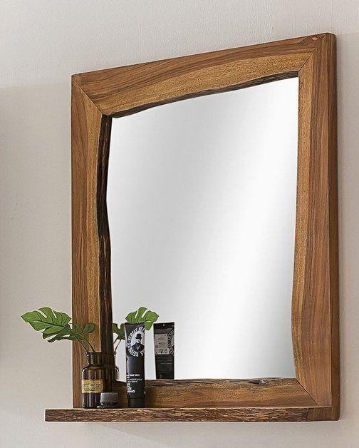 Badezimmer Spiegel Akazie Massiv Holz »Loft Edge« Trending