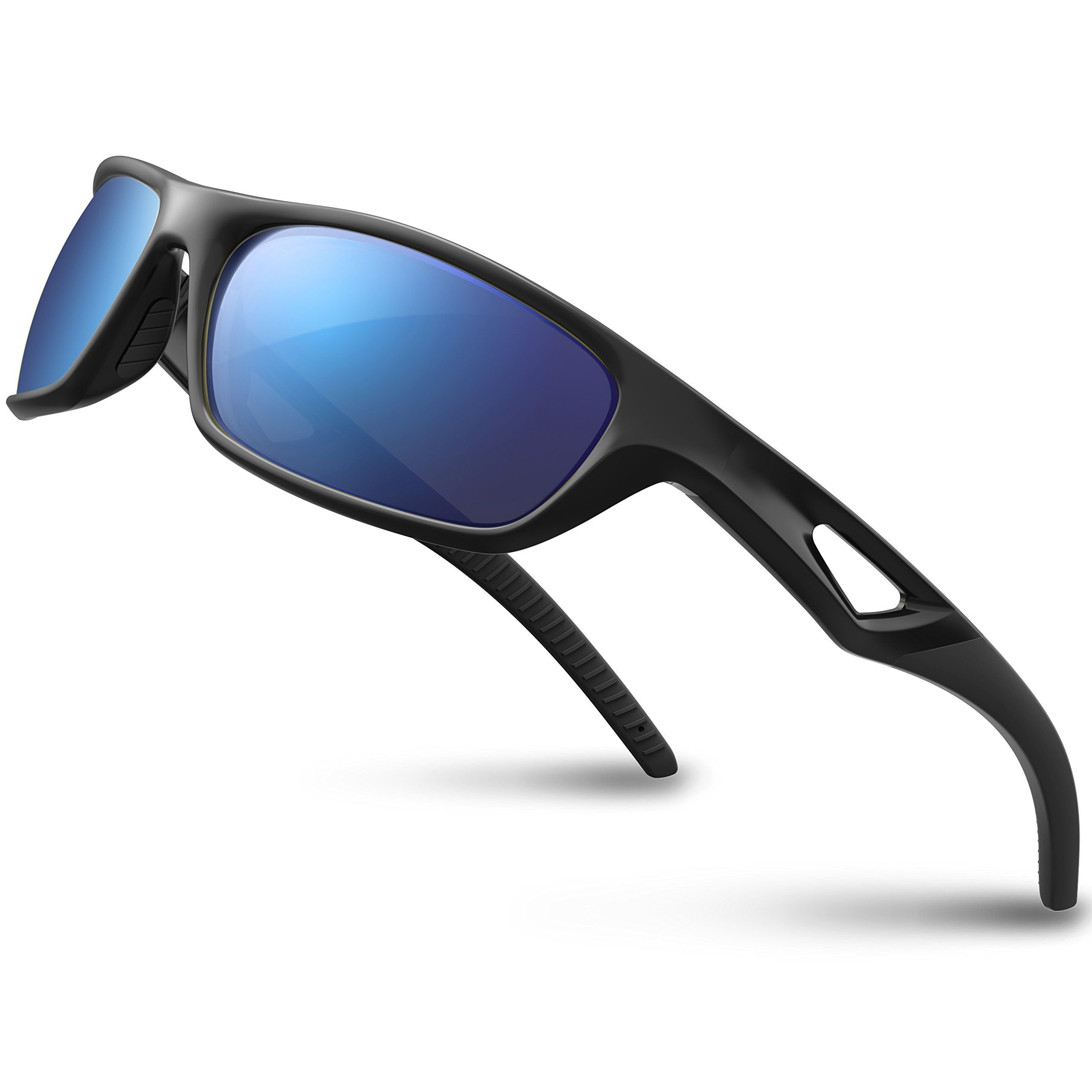 a54832592c Women Golf Clothing - RIVBOS Polarized Sports Sunglasses Driving Glasses  for Men Women Tr90 Unbreakable Frame for Cycling Baseball Running Rb831  Black Black ...