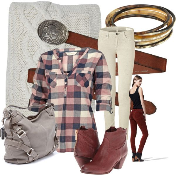 """""""Buffalo Plaid"""" by leather-blues ❤ liked on Polyvore"""