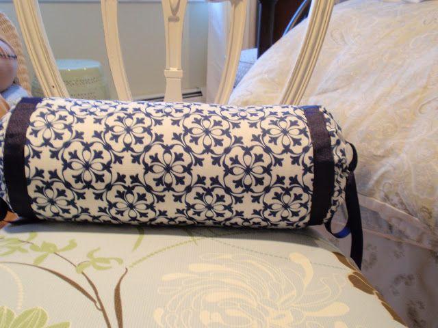 Mush Easier Drawstring Bolster Neckroll Pillow Gathered